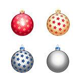 Multicolour christmas balls