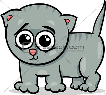 baby cat kitten cartoon illustration