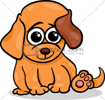 baby dog puppy cartoon illustration