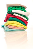 Pile of shirts isolated