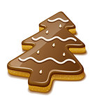 Christmas biscuit in form of christmas tree