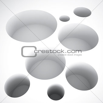 abstract round holes