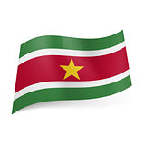 State flag of Suriname.