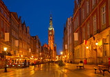 Long street at Old town of Gdansk