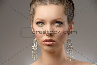 close-up of elegant beauty girl