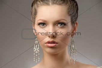close-up of elegant beauty girl