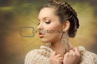 close-up elegant female
