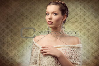 charming lady with elegant style
