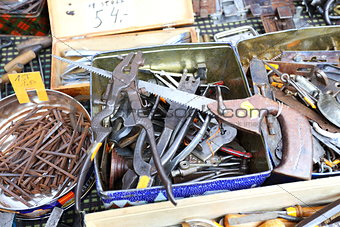 Old tools. Flea Market.