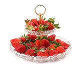 Fresh Strawberries on glass plate