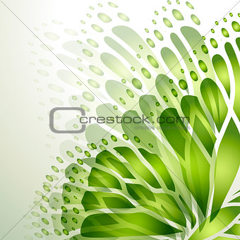 Abstract background with green butterfly