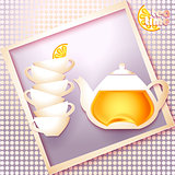 Abstract tea time card
