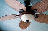 Outdoor ceiling fan of residential home