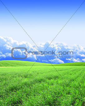 Beautiful landscape with green hills