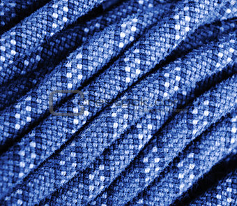 climbing rope texture blue