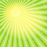 Vivid grungy frame with sun rays
