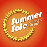 Summer sale poster, vector illustration