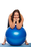 Fitness with a large ball