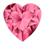 Pink gemstone heart.