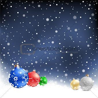 christmas balls night background