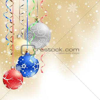 christmas balls background