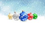 christmas balls snow textarea