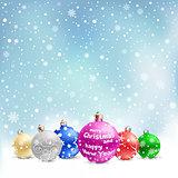 christmas balls snow