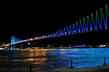 night golden gate bridge and the lights istanbul, Turkey