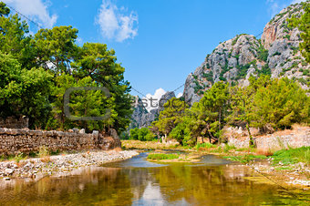 beautiful mountain landscape of Olympos, Turkey