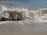 Splashing waves on the beach - Bulgarian seaside landscapes