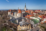 Panoramic view over the old town of Tallinn