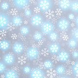 Glowing snow on grey vector background