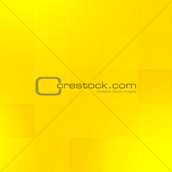 Abstract yellow geometric paper vector background