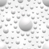 Vector abstract background with white glossy spheres