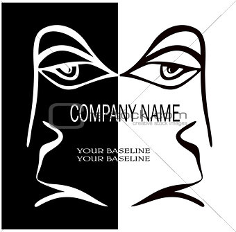 a human face for the company logo