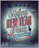 New Year Party Poster.