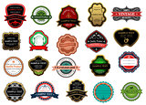 Badges and labels set