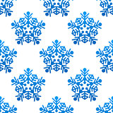Snowflakes seamless pattern background