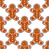Ginger cookies seamless pattern background