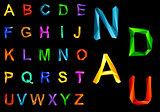 Origami alphabet set