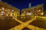Piazza del Campidoglio on Capitoline Hill with Palazzo Senatorio