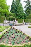 Italian garden of Glamis Castle, Angus, Scotland