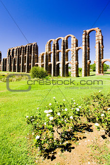 Aqueduct of Los Milagros, Merida, Badajoz Province, Extremadura,