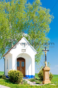 chapel with a cross, Vlcnov, Czech Republic