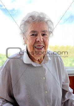 Portrait of senior smiling woman