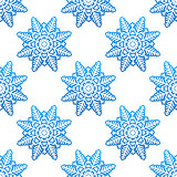 Snowflakes winter seamless pattern background