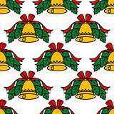 Christmas bell seamless pattern