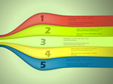 Waving ribbon infographic design with options