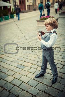 Boy outdoors