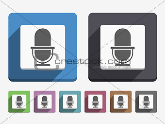 Flat Microphone Icon